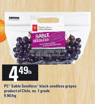 PC Sable Seedless Black Seedless Grapes