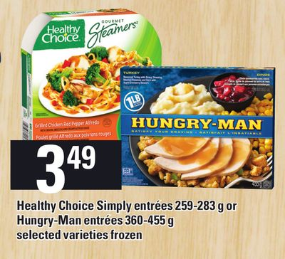 Healthy Choice Simply Entrées 259-283 g Or Hungry-man Entrées 360-455 g
