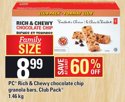 PC Rich & Chewy Chocolate Chip Granola Bars - Club Pack