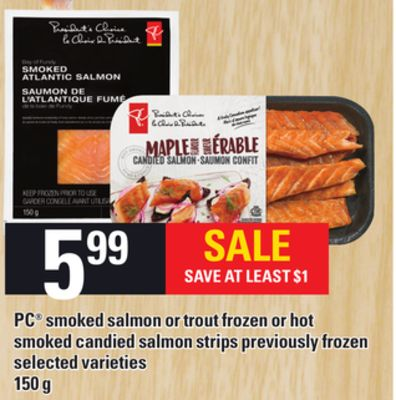 Pc smoked salmon or trout frozen or on sale for Can you freeze smoked fish