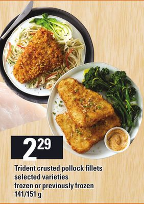 Trident crusted pollock fillets on sale for Trident fish sticks
