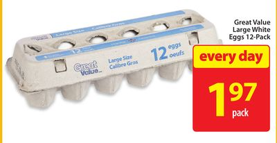 Great Value Large White Eggs 12-pack