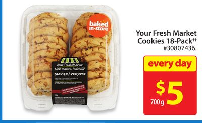 Your Fresh Market Cookies 18-pack