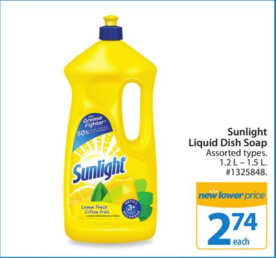 Sunlight Liquid Dish Soap