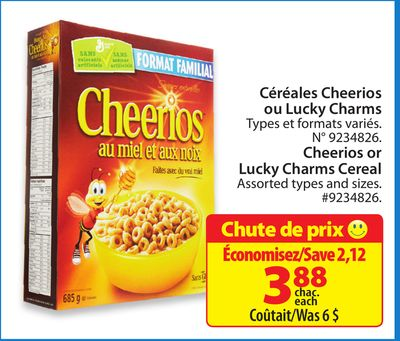 Cheerios or Lucky Charms Cereal