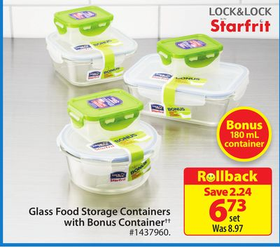 Starfrit Glass Food Storage Containers With Bonus Container