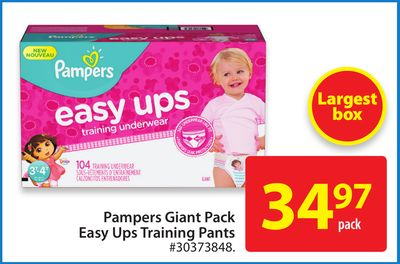 Pampers Giant Pack Easy Ups Training Pants