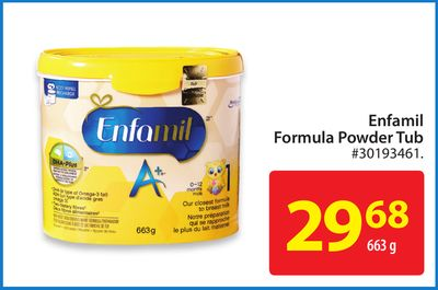 Enfamil Formula Powder Tub