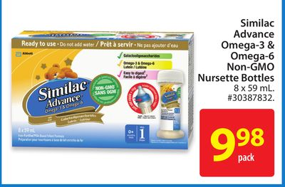 Similac Advance Omega-3 Omega-6 Non-gmo Nursette Bottles