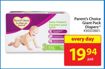 Parent's Choice Giant Pack Diapers