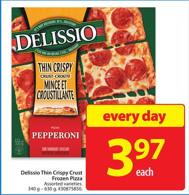 Delissio Thin Crispy Crust Frozen Pizza