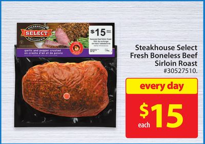 Steakhouse Select Fresh Boneless Beef Sirloin Roast