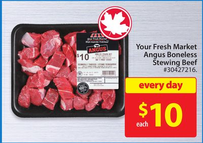 Your Fresh Market Angus Boneless Stewing Beef