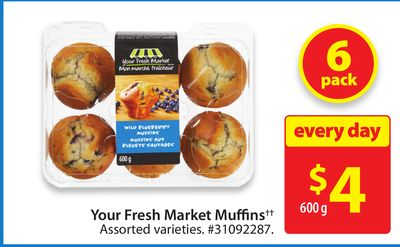 Your Fresh Market Muffins