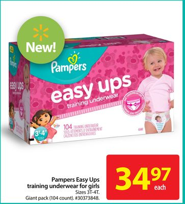 Pampers Easy Ups Training Underwear For Girls