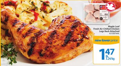 Maple Leaf Fresh Air Chilled Chicken Legs Back Attached