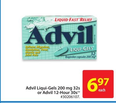 Advil Liqui-gels 200 Mg 32s or Advil 12-hour 30s