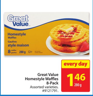 Great Value Homestyle Waffles 8-pack