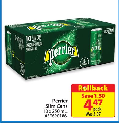 Perrier Slim Cans