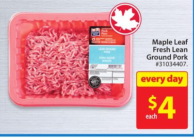 Maple Leaf Fresh Lean Ground Pork