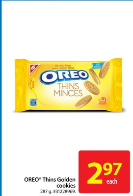 Oreo Thins Golden Cookies