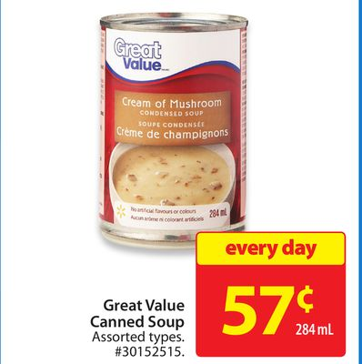 Great Value Canned Soup