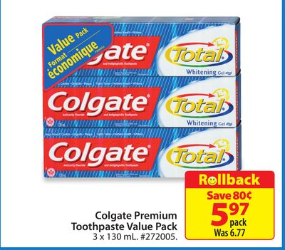 Colgate Premium Toothpaste Value Pack