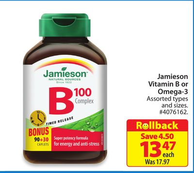 Jamieson Vitamin B or Omega-3