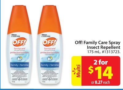 Off! Family Care Spray Insect Repellent