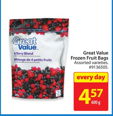 Great Value Frozen Fruit Bags
