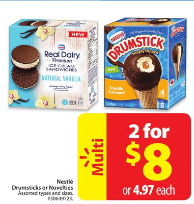 Nestlé Drumsticks or Novelties