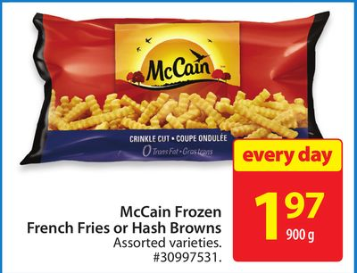Mccain Frozen French Fries or Hash Browns
