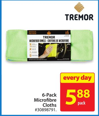 Tremor 6-pack Microfibre Cloths