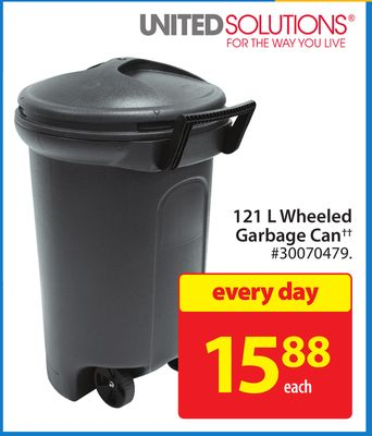 121 L Wheeled Garbage Can
