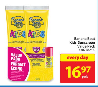 Banana Boat Kids' Sunscreen Value Pack