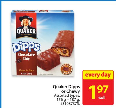 Quaker Dipps or Chewy