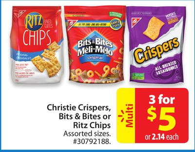 Christie Crispers - Bits & Bites or Ritz Chips