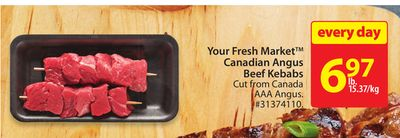 Your Fresh Market Canadian Angus Beef Kebabs