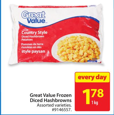 Great Value Frozen Diced Hashbrowns