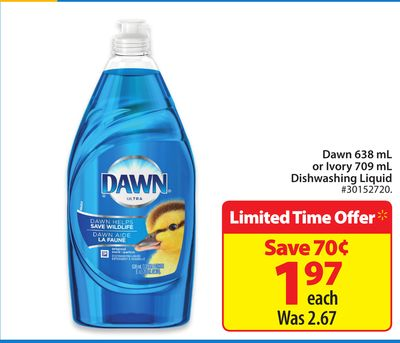 Dawn 638 mL or Ivory 709 mL Dishwashing Liquid