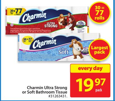 Charmin Ultra Strong or Soft Bathroom Tissue