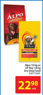 Alpo 16 Kg or Ol' Roy 18 Kg Dry Dog Food