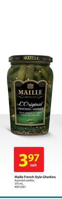 Maille French Style Gherkins
