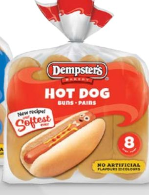 Ben's White Hot Dog Buns