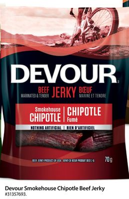 Devour Smokehouse Chipotle Beef Jerky