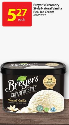Breyer's Creamery Style Natural Vanilla Real Ice Cream