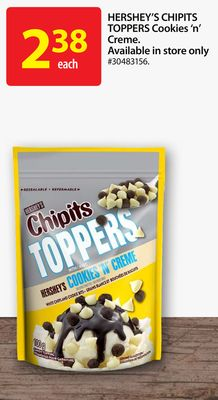Hershey's Chipits Toppers Cookies 'N' Creme