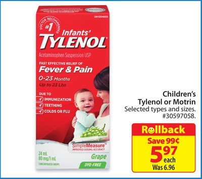 Children's Tylenol or Motrin
