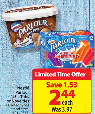 Nestlé Parlour 1.5 L Tubs or Novelties
