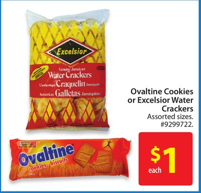 Ovaltine Cookies or Excelsior Water Crackers